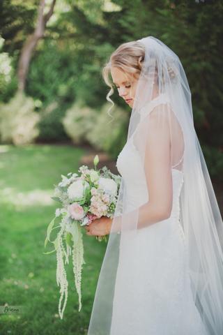 Sunny summer wedding at Laurel Creek Minor. Bridal portrait