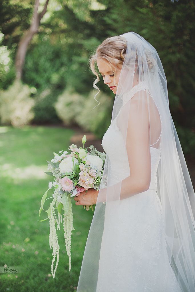 Sunny summer wedding at Laurel Creek Minor. Bridal portrait