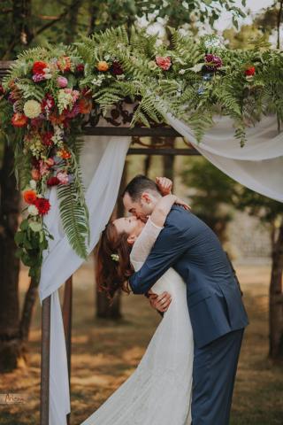 Summer Wedding ceremony at Red Cedar Farm, Poulsbo