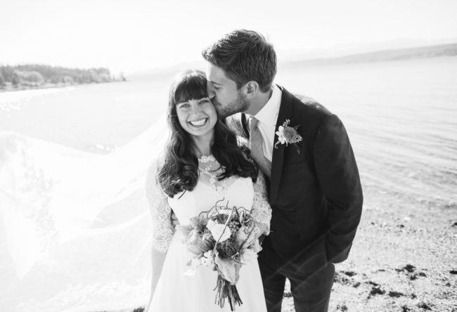 Summer wedding at Kitsap Memorial Park on Bainbridge Island
